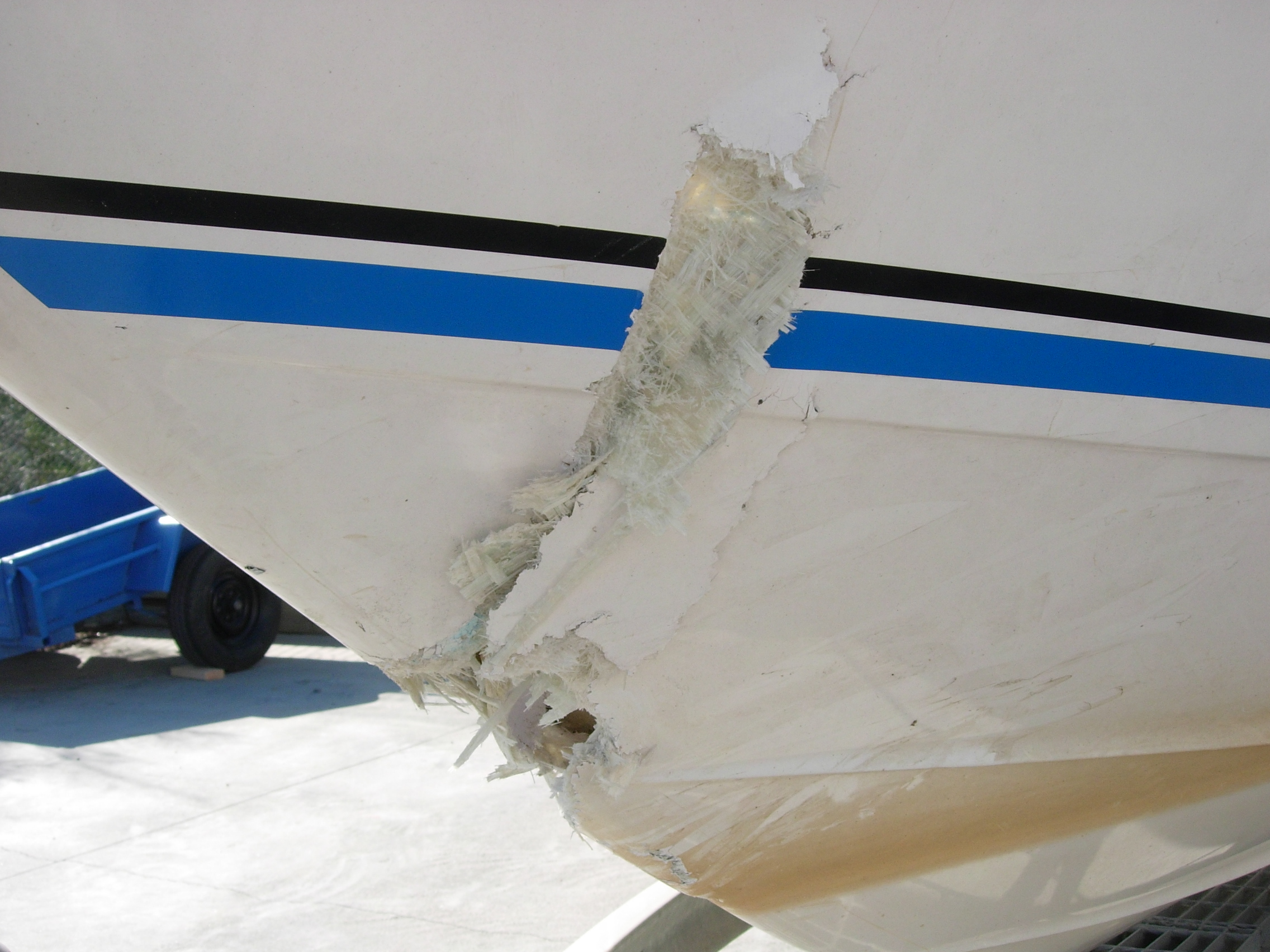 Structural boat damage repair